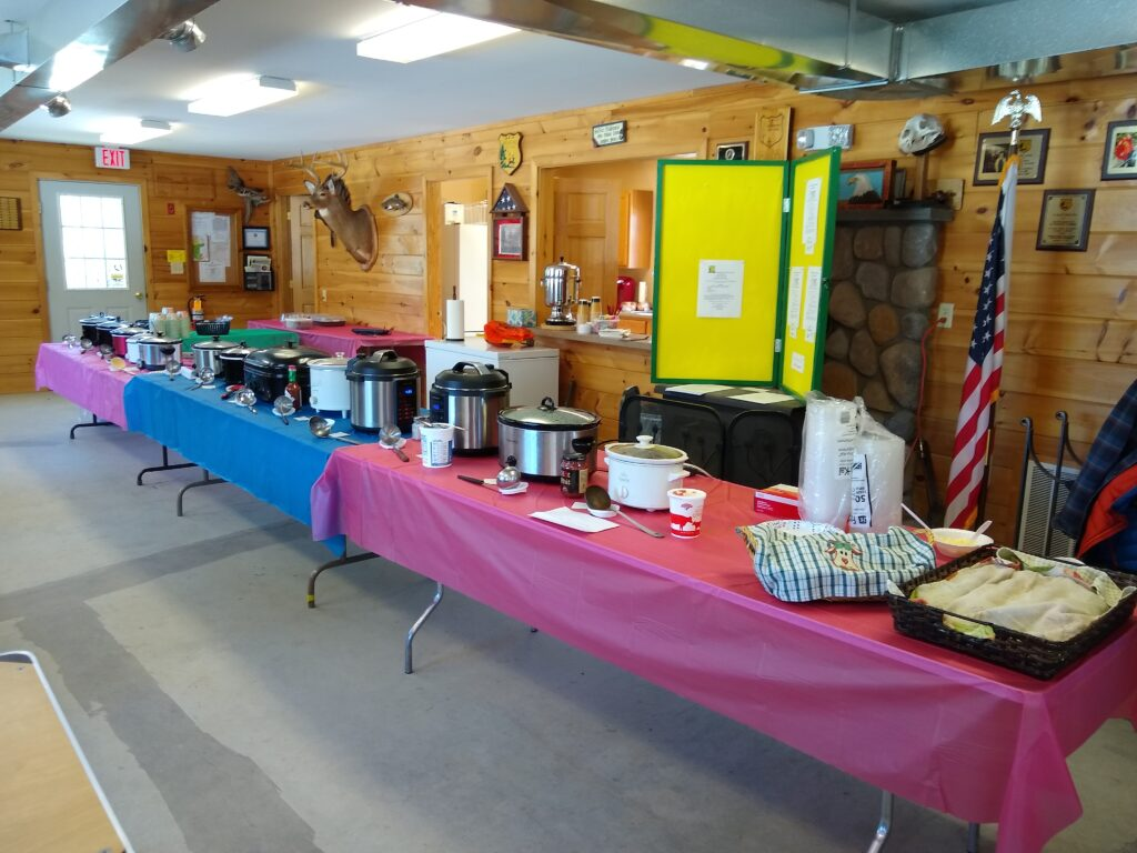 Our March chili/chowder cookoff